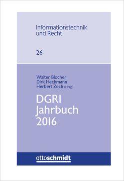 DGRI Jahrbuch 2016 von Blocher,  Walter, Heckmann,  Dirk, Zech,  Herbert