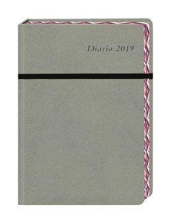 Diario 17-Monats-Kalenderbuch A6, grau – Kalender 2019 von Heye