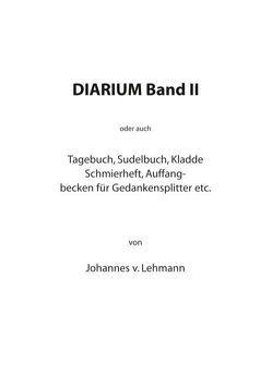 Diarium II von Lehmann,  Johannes von