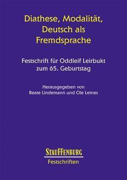 Diathese, Modalität, Deutsch als Fremdsprache von Letnes,  Ole, Lindemann,  Beate