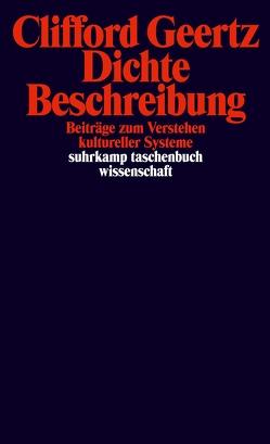 Dichte Beschreibung von Bindemann,  Rolf, Geertz,  Clifford, Luchesi,  Brigitte