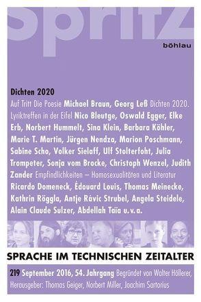 Dichten 2020 von Geiger,  Thomas, Miller,  Norbert, Sartorius,  Joachim