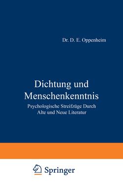 Dichtung und Menschenkenntnis von Oppenheim,  NA