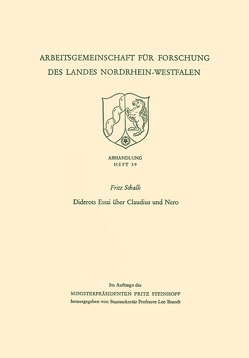Diderots Essai über Claudius und Nero von Schalk,  Fritz