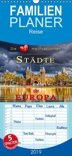 Die 12 meistbesuchten Städte in Europa – Familienplaner hoch (Wandkalender 2019 , 21 cm x 45 cm, hoch) von Roder,  Peter