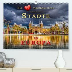 Die 12 meistbesuchten Städte in Europa (Premium, hochwertiger DIN A2 Wandkalender 2021, Kunstdruck in Hochglanz) von Roder,  Peter