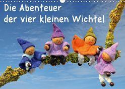 Die Abenteuer der vier kleinen Wichtel (Wandkalender 2018 DIN A3 quer) von Schmutzler-Schaub,  Christine
