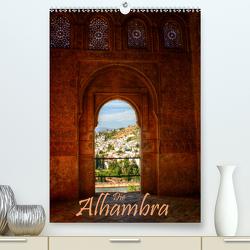 Die Alhambra (Premium, hochwertiger DIN A2 Wandkalender 2021, Kunstdruck in Hochglanz) von Weiss,  Michael