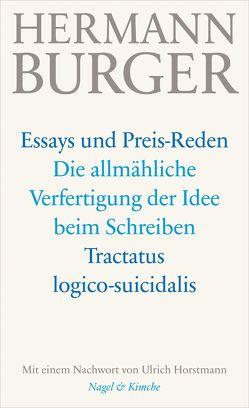 Die allmähliche Verfertigung der Idee beim Schreiben. Tractatus logico-suicidalis von Burger,  Hermann, Horstmann,  Ulrich, Zumsteg,  Simon