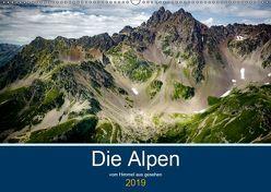 Die Alpen vom Himmel aus gesehen (Wandkalender 2019 DIN A2 quer) von Gaymard,  Alain
