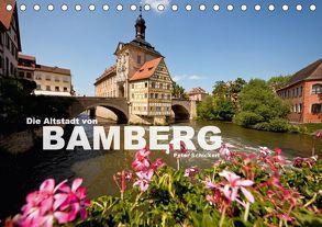 Die Altstadt von Bamberg (Tischkalender 2018 DIN A5 quer) von Schickert,  Peter