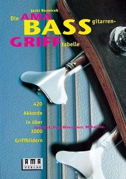Die AMA-Bassgitarren-Grifftabelle von Reznicek,  Jäcki