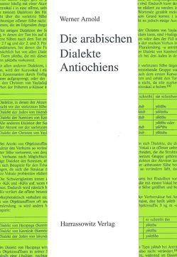 Die arabischen Dialekte Antiochiens von Arnold,  Werner