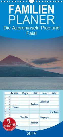 Die Azoreninseln Pico und Faial – Familienplaner hoch (Wandkalender 2019 , 21 cm x 45 cm, hoch) von H. Gulbins,  Dr.