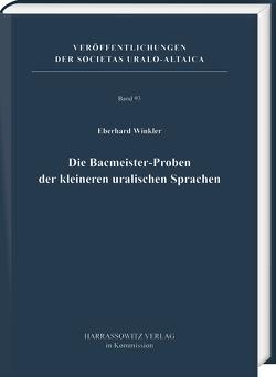 Die Bacmeister-Proben der kleineren uralischen Sprachen von Winkler,  Eberhard
