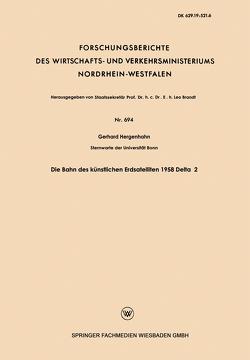 Die Bahn des künstlichen Erdsatelliten 1958 Delta 2 von Hergenhahn,  Richard