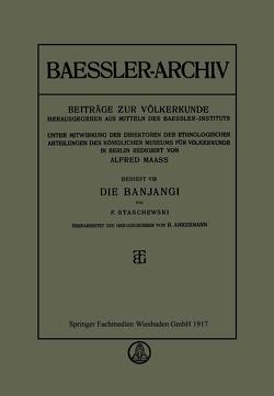 Die Banjangi von Ankermann,  B., Staschewski,  F.
