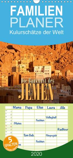 Die Baukunst des Jemen – Familienplaner hoch (Wandkalender 2020 , 21 cm x 45 cm, hoch) von Günter Zöhrer,  Dr.