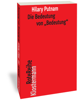 """Die Bedeutung von """"Bedeutung"""" von Putnam,  Hilary, Spohn,  Wolfgang"""