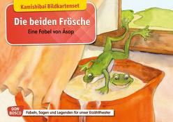Die beiden Frösche. Eine Fabel von Äsop. Kamishibai Bildkartenset. von Aesop, Lefin,  Petra, Lefin-Kirsch,  Monika