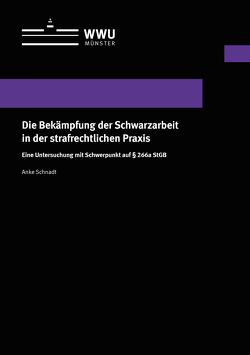 Die Bekämpfung der Schwarzarbeit in der strafrechtlichen Praxis von Schnadt,  Anke