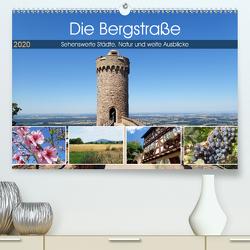 Die Bergstraße – Sehenswerte Städte, Natur und weite Ausblicke (Premium, hochwertiger DIN A2 Wandkalender 2020, Kunstdruck in Hochglanz) von Andersen,  Ilona