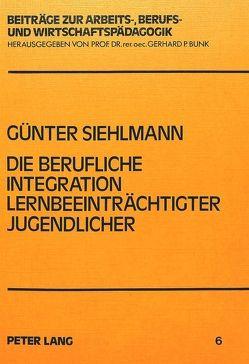 Die berufliche Integration lernbeeinträchtigter Jugendlicher von Siehlmann,  Günter