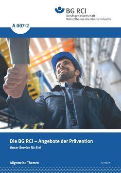 A 007-2 Die BG RCI- Angebote der Prävention