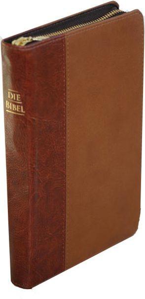 Die Bibel – größere Taschenbibel (Kunstleder, braun, Reißverschluß) von Christliche Schriftenverbreitung,  e.V.