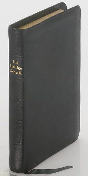 Die Bibel – kleinere Taschenbibel (Leder, schwarz, Schutzklappen) von Christliche Schriftenverbreitung,  e.V.