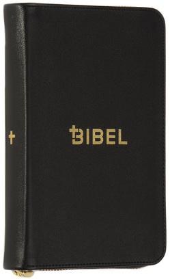 Die Bibel – Schlachter 2000 – Miniaturausgabe (Kalbsleder, flexibler Einband, schwarz, Goldschnitt, Reißverschluss)
