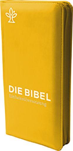 Die Bibel. Taschenausgabe curry mit Reißverschluss