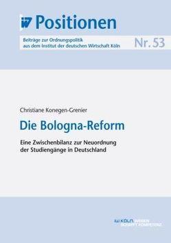 Die Bologna-Reform von Konegen-Grenier,  Christiane