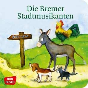 Die Bremer Stadtmusikanten. Mini-Bilderbuch. von Grimm Brüder, Lefin,  Petra