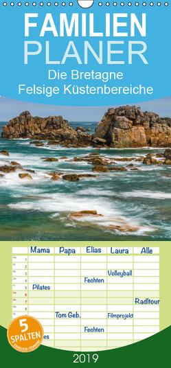 Die Bretagne – Felsige Küstenbereiche – Familienplaner hoch (Wandkalender 2019 , 21 cm x 45 cm, hoch) von Hoffmann,  Klaus