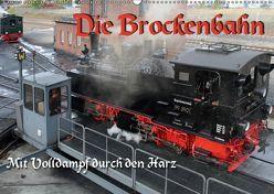 Die Brockenbahn – Mit Volldampf durch den Harz (Wandkalender 2019 DIN A2 quer) von Berg,  Martina