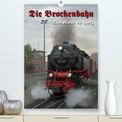 Die Brockenbahn (Premium, hochwertiger DIN A2 Wandkalender 2021, Kunstdruck in Hochglanz) von Berg,  Martina