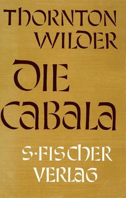 Die Cabala von Herlitschka,  Herberth E., Wilder,  Thornton