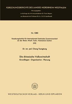Die chinesische Volkswirtschaft von Chang,  Tsung-Tung