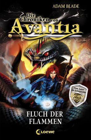 Die Chroniken von Avantia – Fluch der Flammen von Blade,  Adam, Thiele,  Ulrich