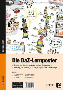 Die DaZ-Lernposter von Flasche, Kirschbaum, Vogel, Welfenstein