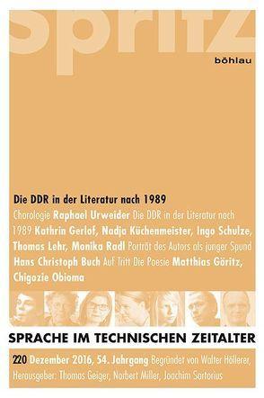 Die DDR in der Literatur nach 1989 von Geiger,  Thomas, Miller,  Norbert, Sartorius,  Joachim