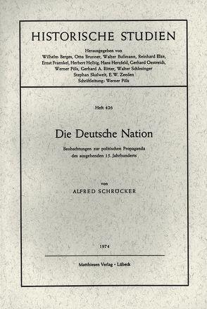 Die Deutsche Nation von Schröcker,  Alfred