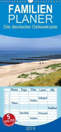Die deutsche Ostseeküste – Eine Reise von der Geltinger Birk bis nach Usedom – Familienplaner hoch (Wandkalender 2019 , 21 cm x 45 cm, hoch) von Rix,  Veronika