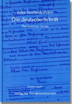 Die deutsche Schrift. The German Script von Verdenhalven,  Fritz