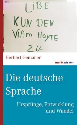 Die deutsche Sprache von Genzmer,  Herbert