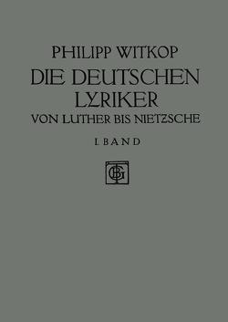 Die Deutschen Lyriker von Witkop,  Philipp