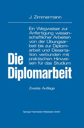 Die Diplomarbeit von Zimmermann,  Josef