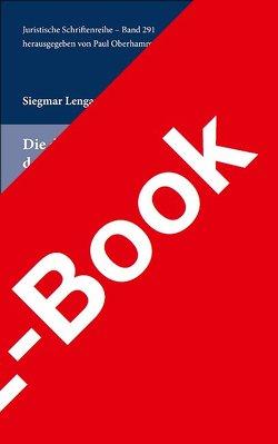 Die dogmatische Legitimation der strafrechtlichen Unterbringung ge von Lengauer,  Siegmar