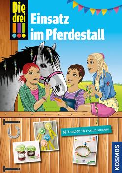Die drei !!!, Einsatz im Pferdestall von Biber,  Ina, Erlhoff,  Kari, Helmreich,  Karin